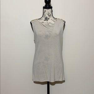 New York & Co Tank Off White Size Large